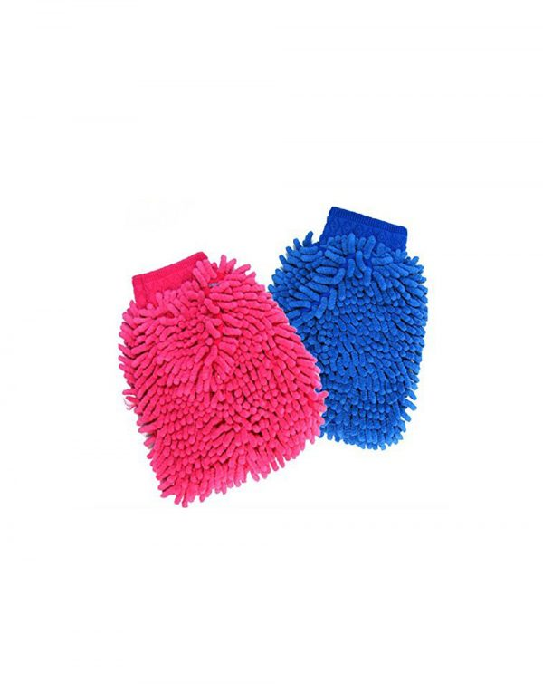 Home Cube 2 Pcs Double Sided Microfiber Car Window Washing Kitchen Dust Cleaning Gloves - Random Color