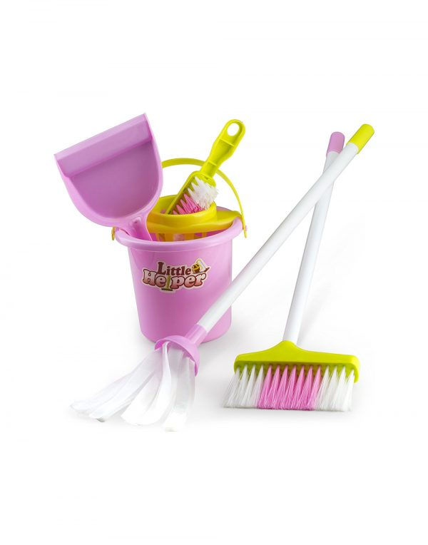Housekeeping & Cleaning Playset - Mini Clean Up Broom, Mop and Bucket set Kids with Other Play Pretend Toys - Perfect Gift for Ages 3 & Up