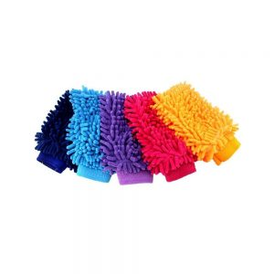 VelVeeta Car Wash Sponge Window Cleaning Washing Machine Sponge Car Cleaning Gloves (Random Color)
