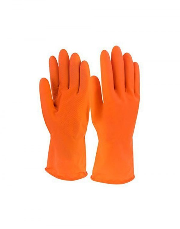 SCHOFIC Reusable Hand Care Flocklined Household Rubber Hand Gloves/Kitchen Gloves For Dishwashing/Cleaning/Lab Work/Electricity Work/Gardening