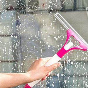 SIDDHMURTI Spray type Cleaning Brush Glass Wiper Window Clean Shave Car Window Cleaner wiper, Random Colour