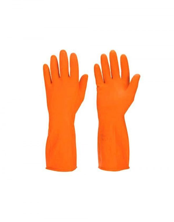 SCHOFIC Reusable Hand Care Flocklined Household Rubber Hand Gloves