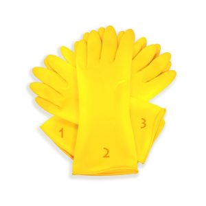 Tools-4-All Hand Care Flocklined Household Rubber Hand Gloves