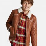 Boys' Sherpa Lined Jacket - Brown