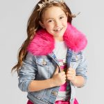 Girls' Jean Jacket with Faux Fur Collar