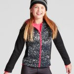 Girls' Printed Tech Fleece Full Zip Hoodie