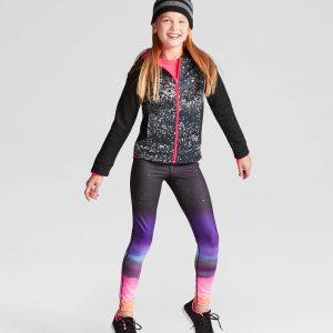 Girls' Printed Tech Fleece Full Zip Hoodie