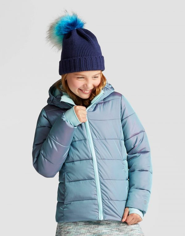Girls' Puffer Jacket - Teal