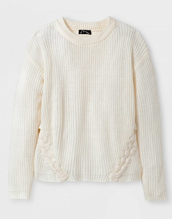 Girls' Textured Sweater