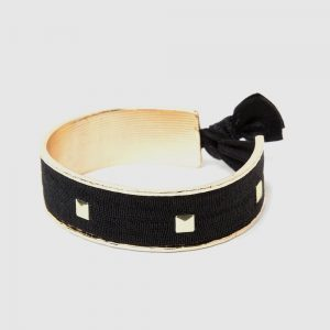 La-ta-da Gold Ribbon Hair Tie Cuff Bracelet