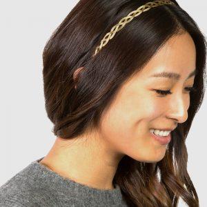 La-ta-da Thin Metal Braided Headband