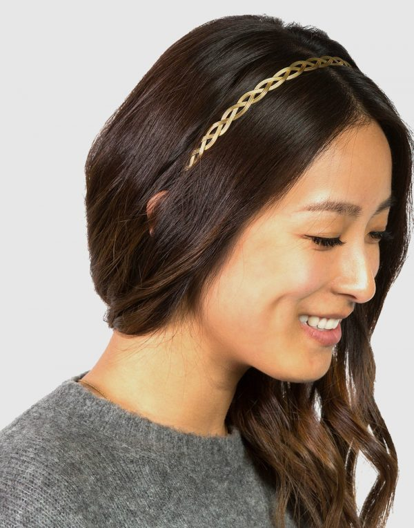 La-ta-da Thin Metal Braided Headband
