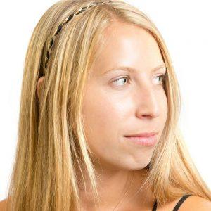 La-ta-da Faux Leather & Gold Twist Headbands