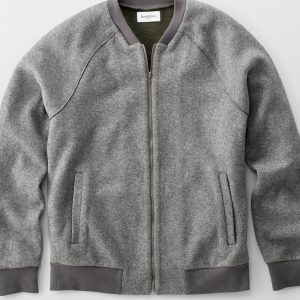 Men's Standard Fit Bomber Sweater