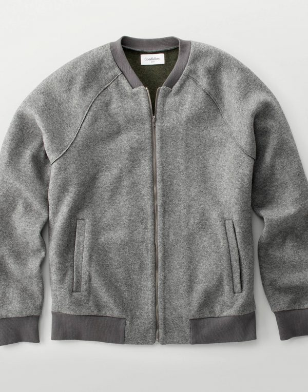 Men's Standard Fit Bomber Sweater