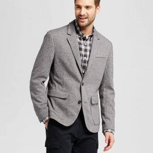 Men's Standard Fit Deconstructed Knit Blazer