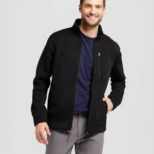 Men's Standard Fit Sweater Fleece Jacket