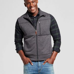 Men's Standard Fit Sweater Fleece Vest