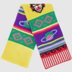 Striped symbol scarf
