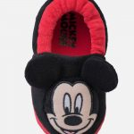 Toddler Boys' Disney Mickey Mouse Slippers - Red