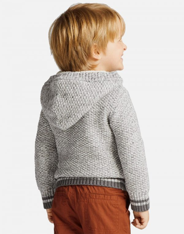 Toddler Boys' Sherpa Hoodie Sweater - Gray