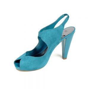 Women Blue Heeled Sandals