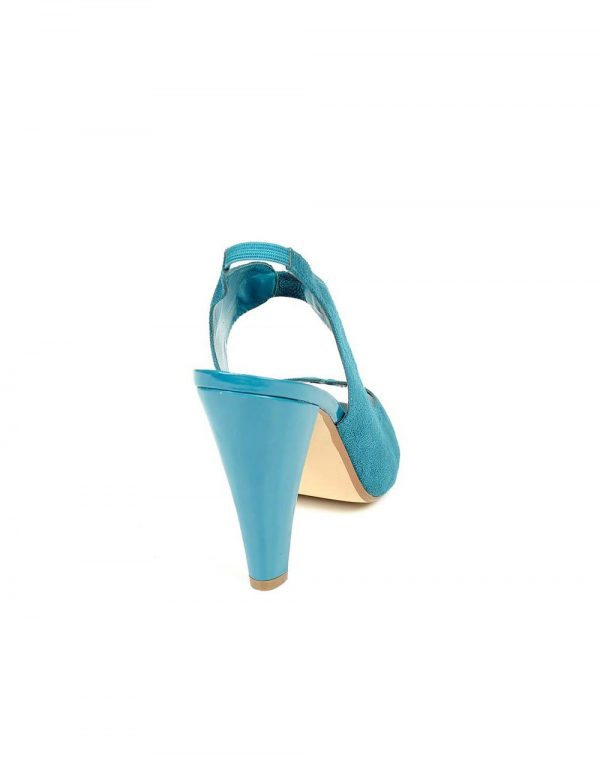 Women Blue Heeled Sandals