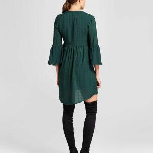 Women's Crochet Bell Sleeve Dress