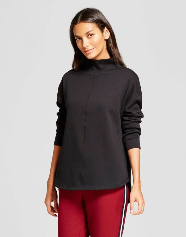 Women's Funnel Neck Tunic Sweatshirt