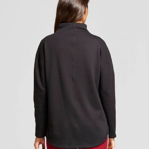 Women's Funnel Neck Tunic Sweatshirt