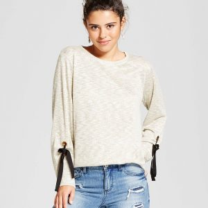 Women's Long Sleeve Sweatshirt With Bow