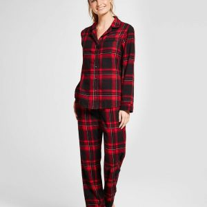 Women's 2pc Pajama Set - Red Velvet