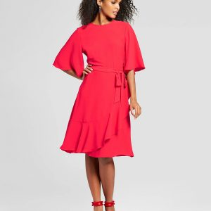 Women's Ruffle Wrap Dress