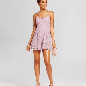 Women's Shimmer Lace Rompe
