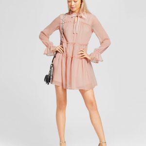Women's Tied Neck Mini Dress