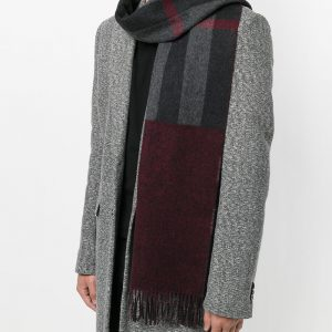 Cashmere oversize check scarf