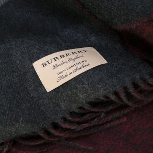 Cashmere oversize check scarf