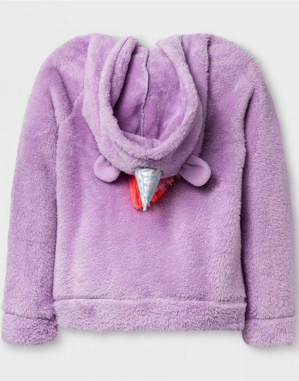 Girls' Cozy Unicorn Hoodie - Violet