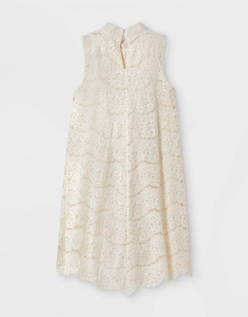 Girls' Lace Mock Neck Dress - art class