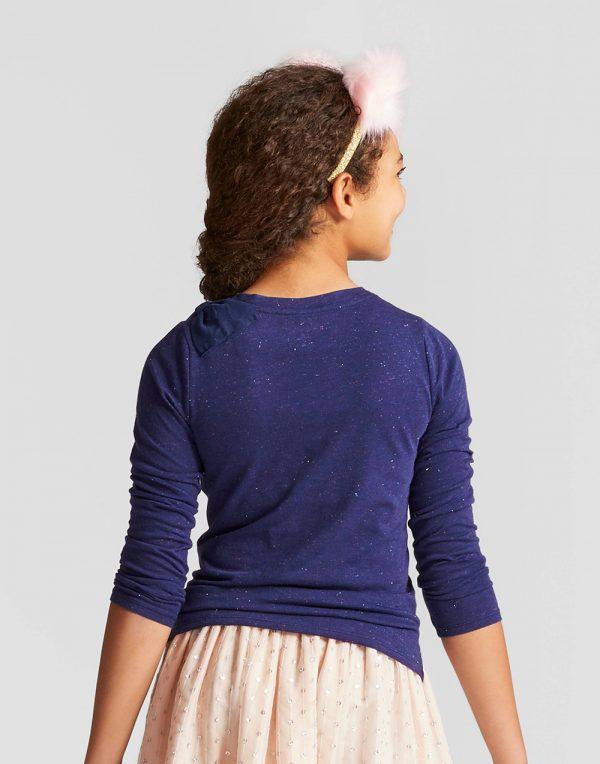 Girls' Long Sleeve Bow Top