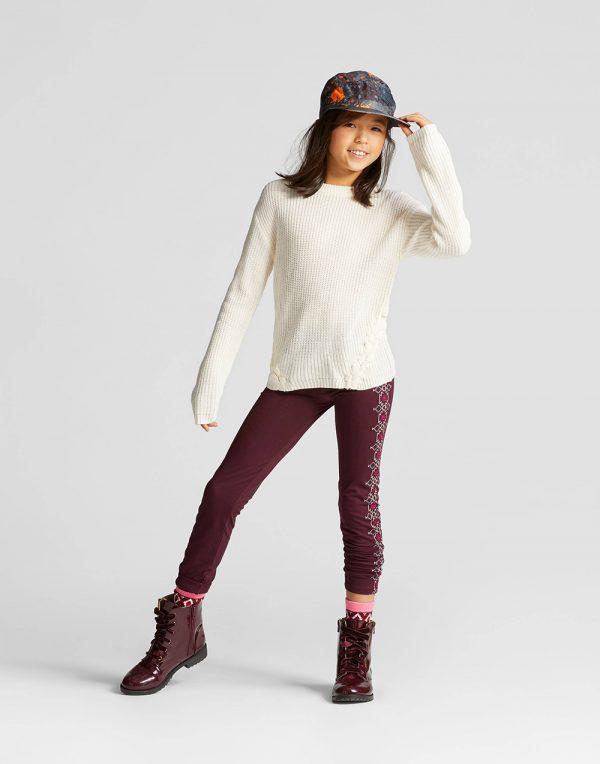 Girls' Textured Sweater