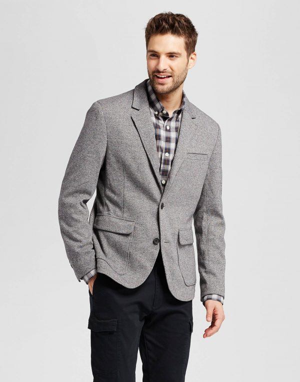 Men's Standard Fit Deconstructed Knit Blazer