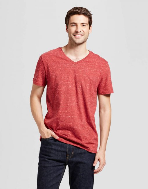 Men's Standard Fit Short Sleeve V-Neck T-Shirt
