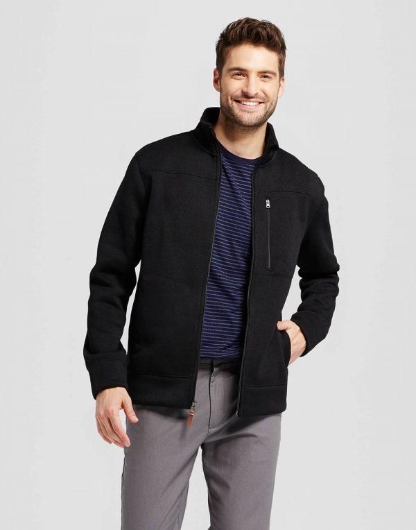 Men's Standard Fit Sweater Fleece Jacket