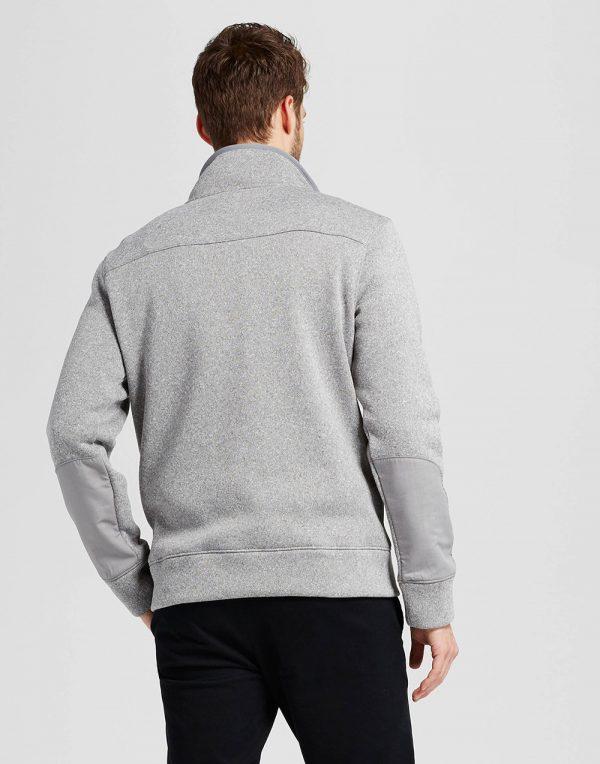 Men's Standard Fit Sweater Fleece Snap Pullover