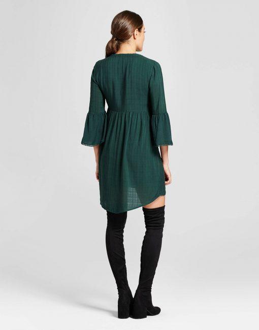 Women's Crochet Bell Sleeve Dress