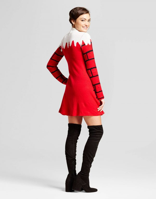 Women's Holiday Sweater Pinafores