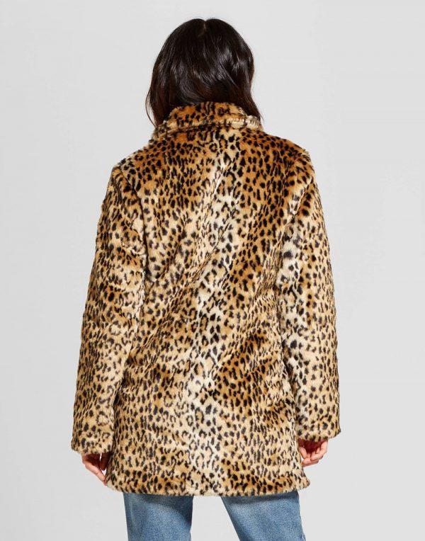 Women's Leopard Faux Fur Coat