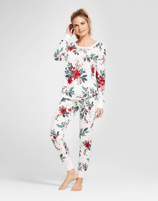 Women's 2pc Pajama Set - Almond Cream