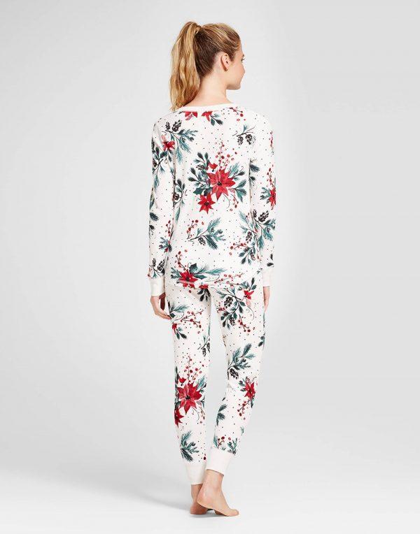 Women's 2pc Pajama Set - Almond Cream
